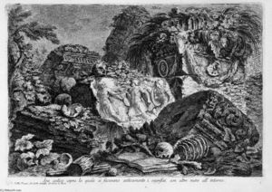 Giovanni Battista Piranesi - Ancient altar, with other ruins