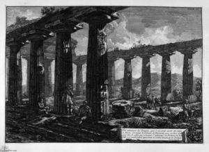 Giovanni Battista Piranesi - Inside the Temple