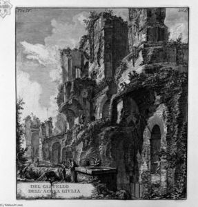 Order Art Reproduction : Perspective of the rear by Giovanni Battista Piranesi (1720-1778, Italy) | WahooArt.com
