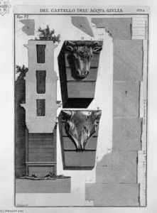 Giovanni Battista Piranesi - Profile section of the monument
