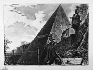 Giovanni Battista Piranesi - Pyramid of Caius Cestius