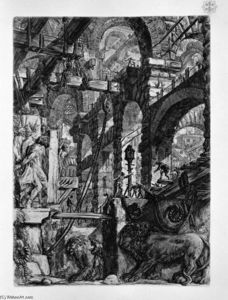 Giovanni Battista Piranesi - The Lion Bas-Reliefs