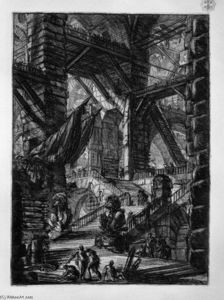 Giovanni Battista Piranesi - The Staircase with Trophies