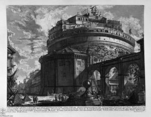 Giovanni Battista Piranesi - View of the Bridge and Castle St. Angel