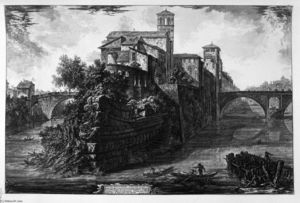 Giovanni Battista Piranesi - View of the Bridge Salary