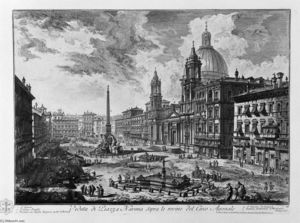 Giovanni Battista Piranesi - View of the Piazza della Rotonda