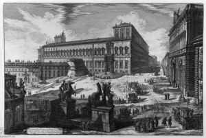Giovanni Battista Piranesi - View of the Piazza di Monte Cavallo