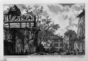 Giovanni Battista Piranesi - View of the Temple of Jupiter the Thunderer