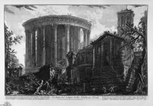 Giovanni Battista Piranesi - View of the Temple of the Sibyl at Tivoli