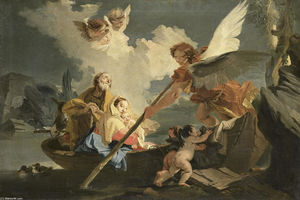 Giovanni Battista Tiepolo - The Flight to Egypt