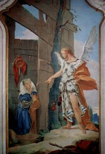 Giovanni Battista Tiepolo - The appearance of the angel before Sarah