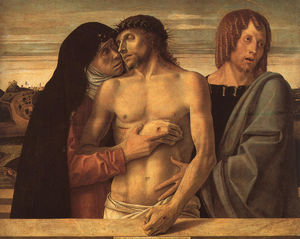Giovanni Bellini - Dead Christ Supported by Madonna and St. John