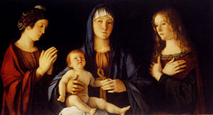 Giovanni Bellini - Virgin and Child with St. Catherine and Mary Magdalene