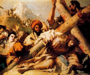 Giovanni Domenico Tiepolo - Christ's Fall on the way to Calvary