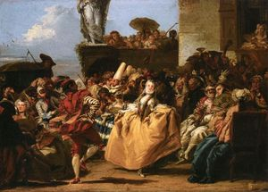 Giovanni Domenico Tiepolo - The Minuet or Carnival Scene