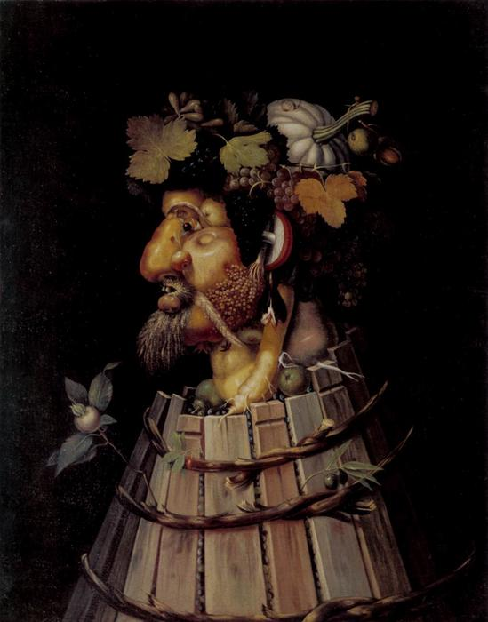 Autumn, Oil On Canvas by Giuseppe Arcimboldo (1527-1593, Italy)