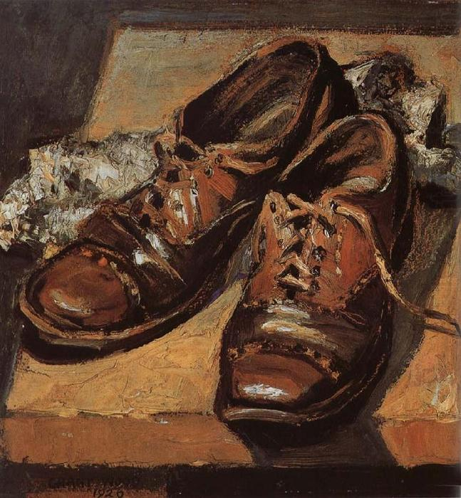 Old shoes, 1926 by Grant Wood (1891-1942, United States)