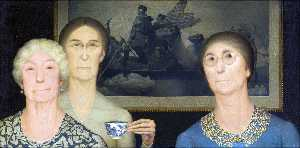 Grant Wood - Daughters of Revolution