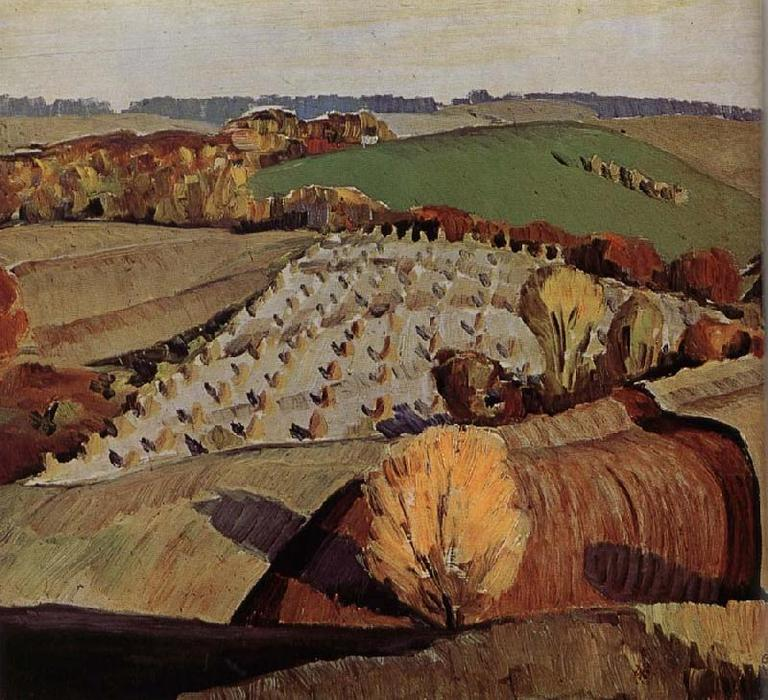 Landscape, 1931 by Grant Wood (1891-1942, United States) | Museum Quality Reproductions | WahooArt.com