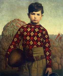 Grant Wood - Plaid Sweater