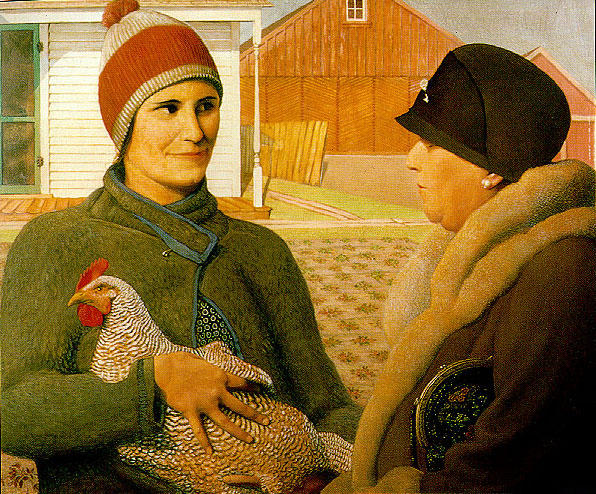 The Appraisal, Oil On Canvas by Grant Wood (1891-1942, United States)
