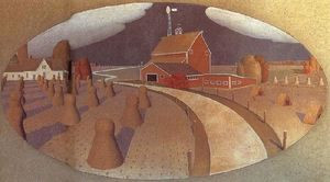 Grant Wood - Farm View