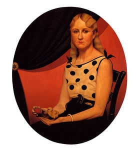 Grant Wood - Portrait of Nan