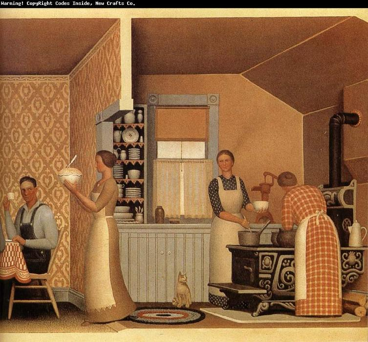 Dinner for Threshers, 1934 by Grant Wood (1891-1942, United States)