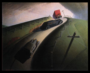 Grant Wood - Death on the Ridge Road