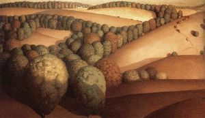 Grant Wood - Near the sunset