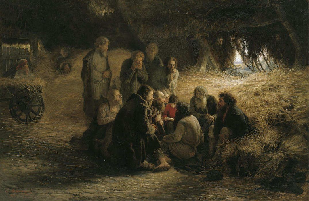 Reading of the 1861 Manifesto, 1873 by Grigoriy Myasoyedov (1834-1911, Russia) | Museum Quality Reproductions | WahooArt.com