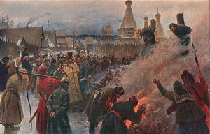 Grigoriy Myasoyedov - The burning of Archpriest Avvakum