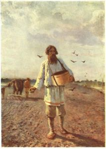 Order Painting Copy : Sower, 1888 by Grigoriy Myasoyedov (1834-1911, Russia) | WahooArt.com