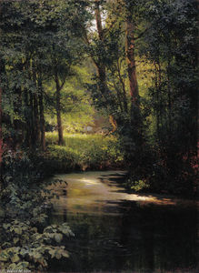 Grigoriy Myasoyedov - Creek in the forest