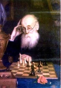 Order Oil Painting : Portrait of chess player A. D. Petrova by Grigoriy Myasoyedov (1834-1911, Russia) | WahooArt.com