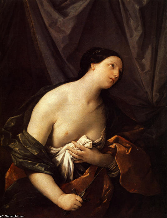 Lucretia, 1626 by Reni Guido (Le Guide) (1575-1642, Italy) | Famous Paintings Reproductions | WahooArt.com