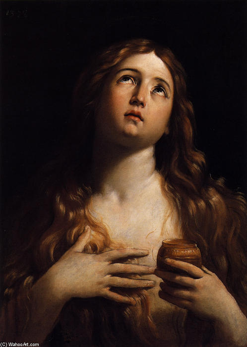 Mary Magdalene, 1616 by Reni Guido (Le Guide) (1575-1642, Italy) | Museum Art Reproductions Reni Guido (Le Guide) | WahooArt.com