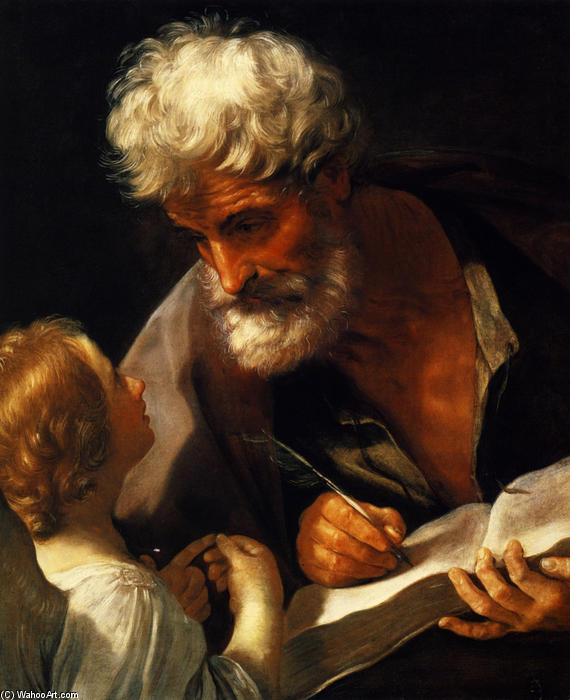Saint Matthew, Oil On Canvas by Reni Guido (Le Guide) (1575-1642, Italy)