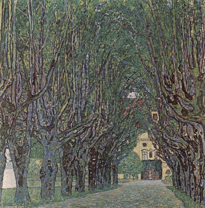 Avenue of Schloss Kammer Park, Oil On Canvas by Gustav Klimt (1862-1918, Austria)