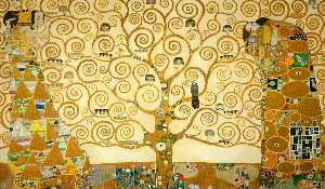 Gustav Klimt - The Tree of Life, Stoclet Frieze