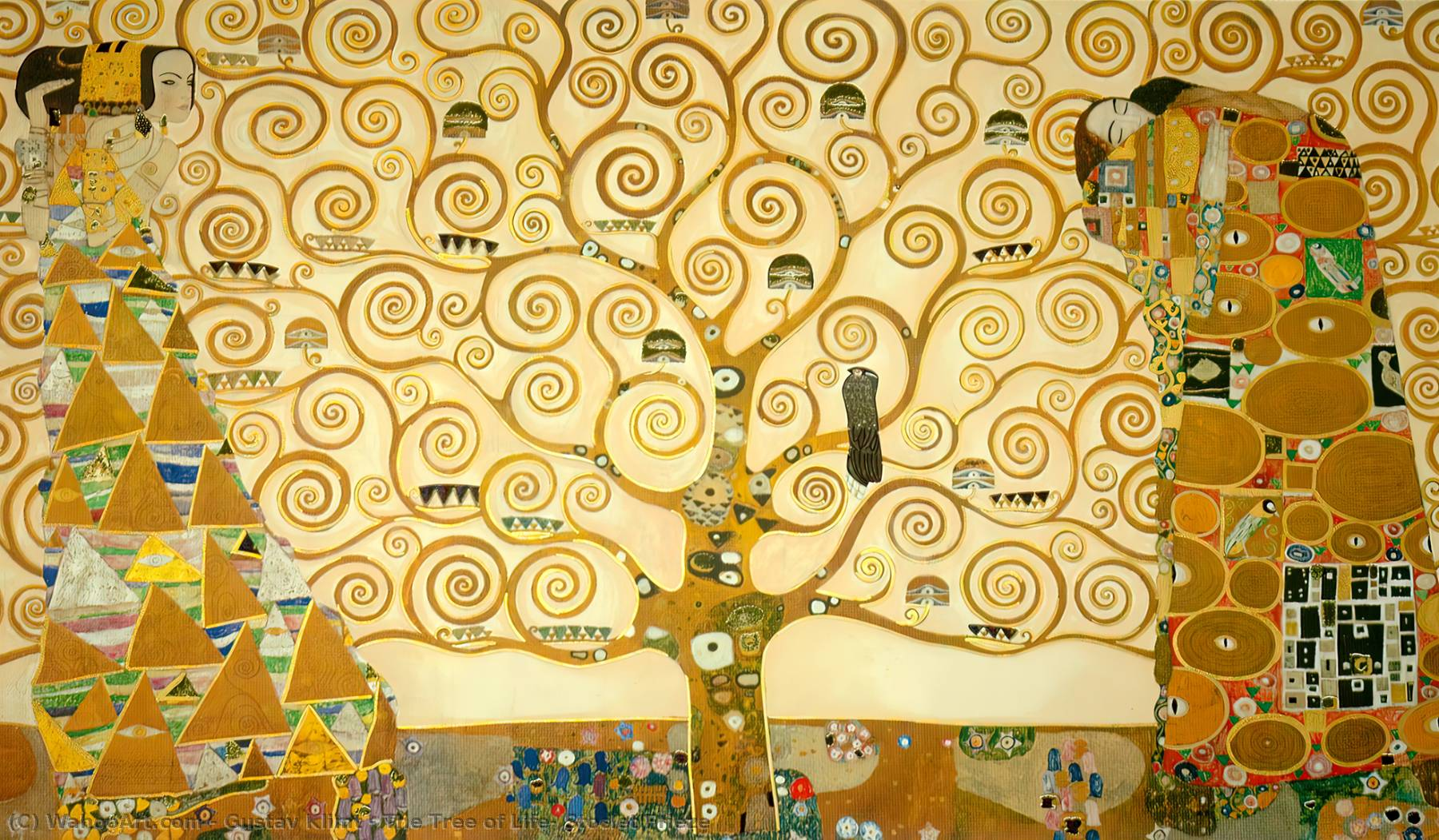 The Tree of Life, Stoclet Frieze, 1909 by Gustav Klimt (1862-1918, Austria)