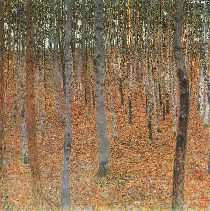 Beech Grove I, Oil On Canvas by Gustav Klimt (1862-1918, Austria)