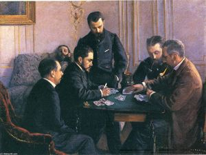 Gustave Caillebotte - The Bezique Game