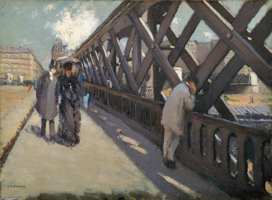Study for Le Pont de l'Europe, Oil On Canvas by Gustave Caillebotte (1848-1894, France)
