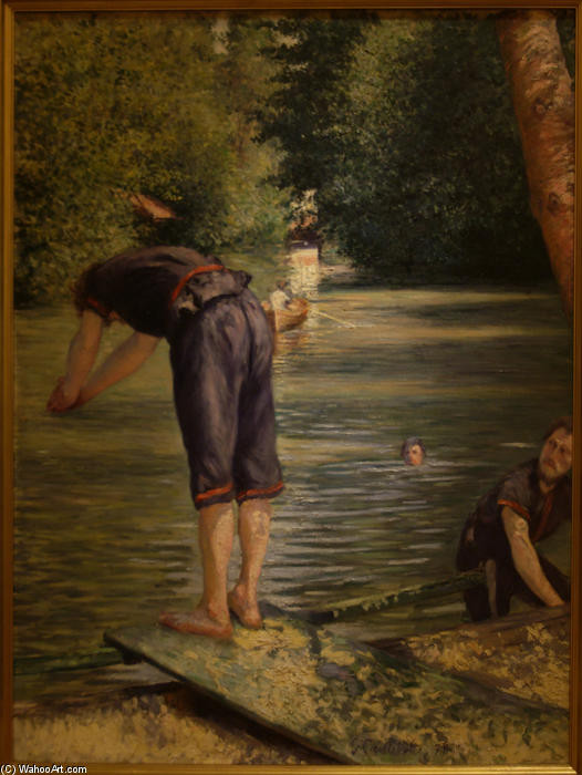 Bathers on the Banks of the Yerres, Oil On Canvas by Gustave Caillebotte (1848-1894, France)