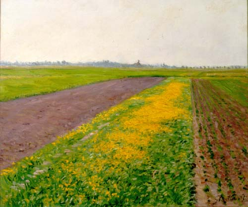 Plain of Gennevilliers by Gustave Caillebotte (1848-1894, France) | Oil Painting | WahooArt.com