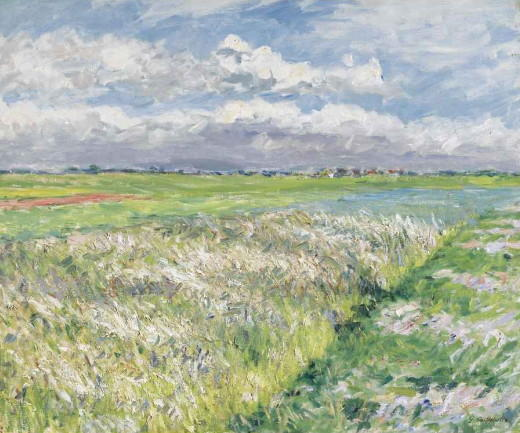 Fields, Plain of Gennevilliers, Oil On Canvas by Gustave Caillebotte (1848-1894, France)