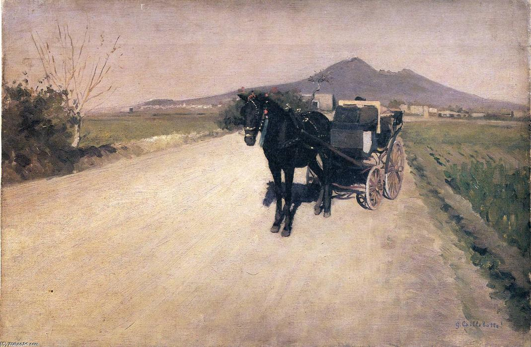 A Road in Naples, 1872 by Gustave Caillebotte (1848-1894, France) | Painting Copy | WahooArt.com