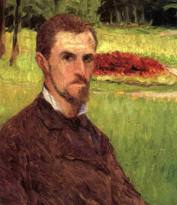 Self-Portrait, 1878 by Gustave Caillebotte (1848-1894, France) | Oil Painting | WahooArt.com