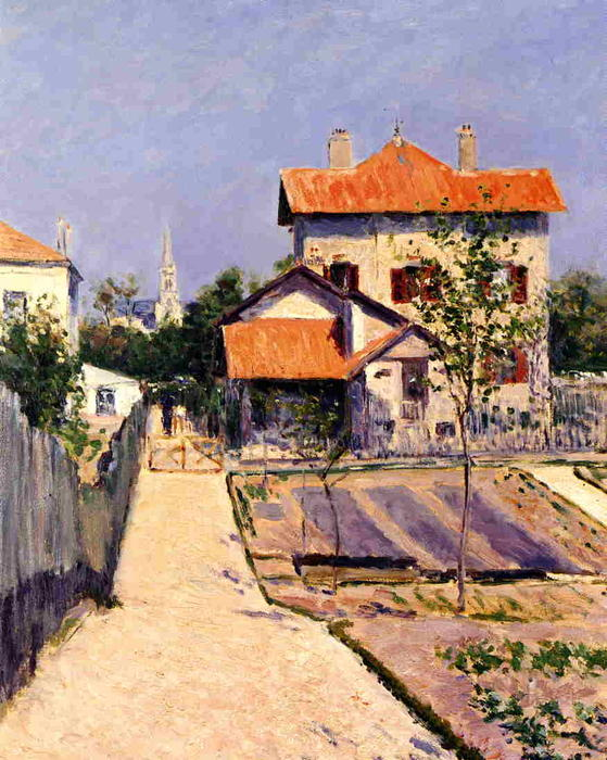 The Artist`s House at Yerres, 1882 by Gustave Caillebotte (1848-1894, France) | Museum Quality Reproductions | WahooArt.com